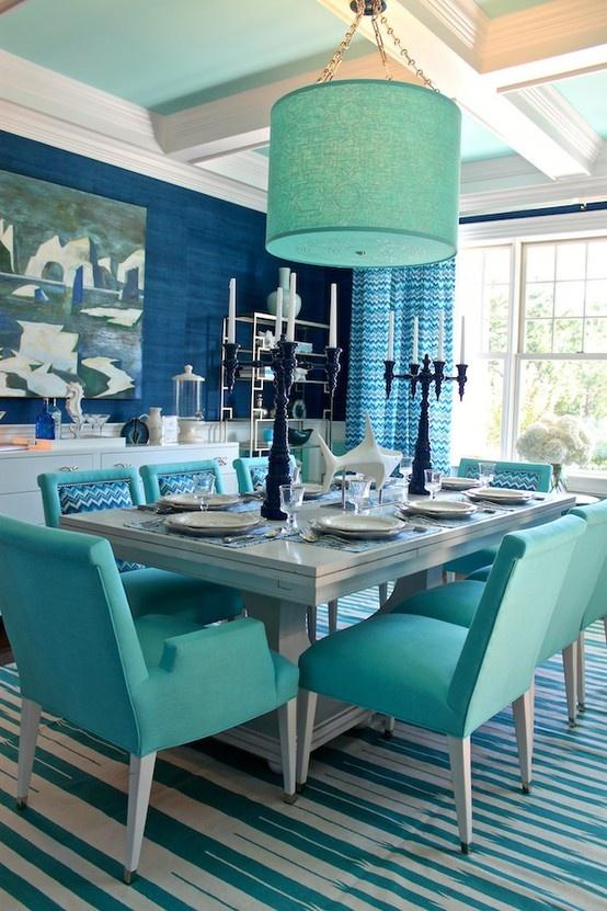 Decorar Interiores Turquesas Colores En Casa
