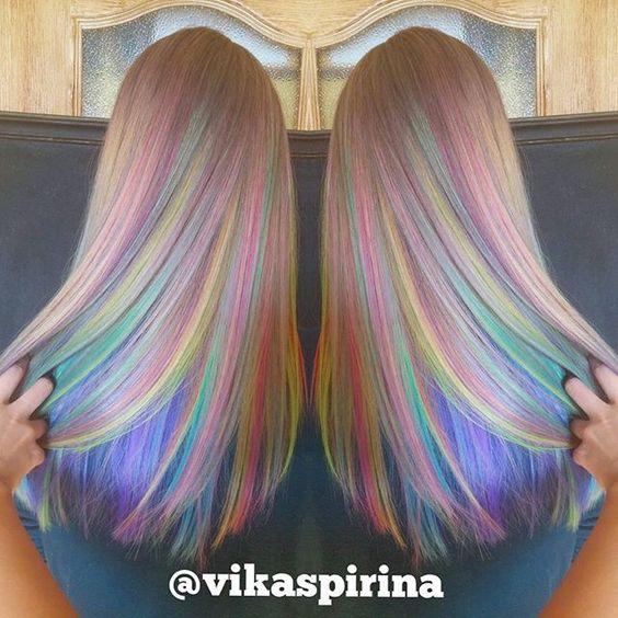 crazy rainbow hairstyles