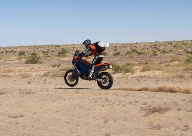 Kevin earlier...flying his 950 through the Baja desert at speed.