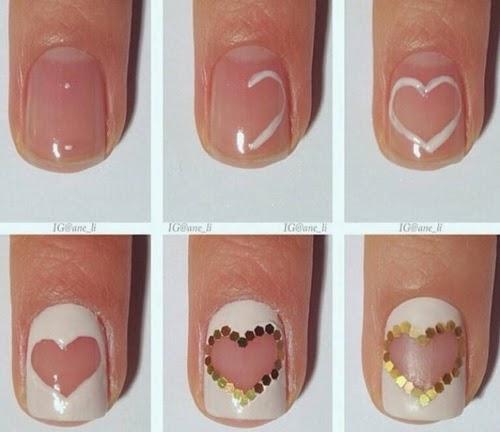 One Glitter Heart Nail Art Tutorial Entertainment News Photos