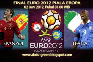 Hasil Skor final spanyol vs Italia