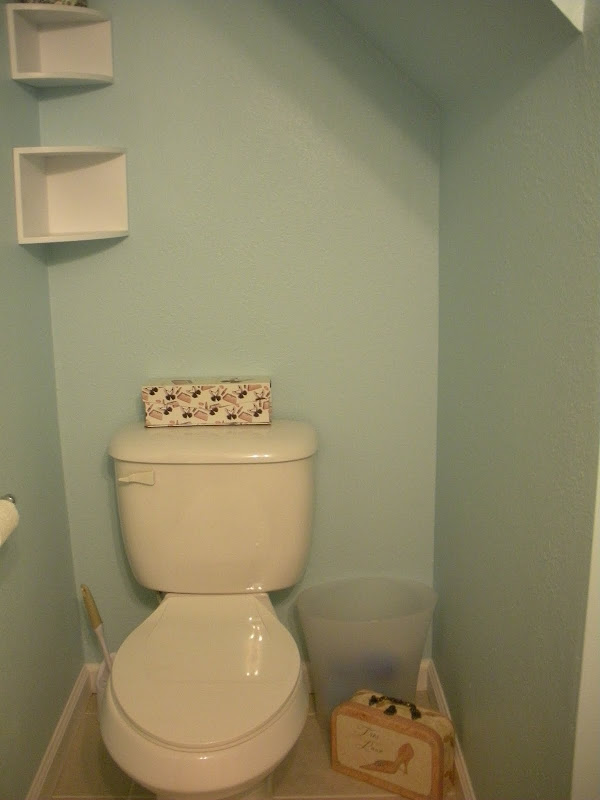And here's what the bathroom looks like now, nearly 6 months after we  title=