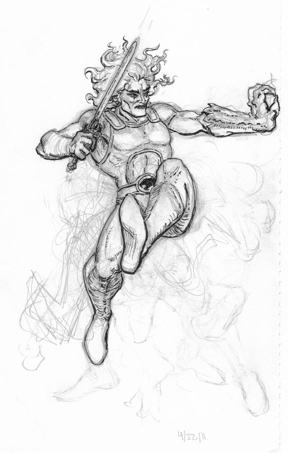 He-man vs Lion-o Pencils by hanzozuken on DeviantArt