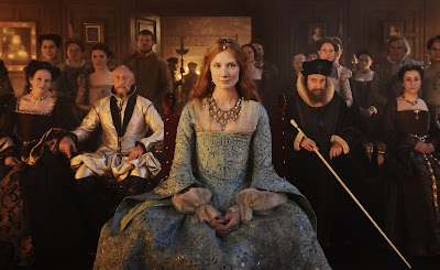 Joely Richardson as young Queen Elizabeth-I followed by courtier William Cecil, Directed by Roland Emmerich