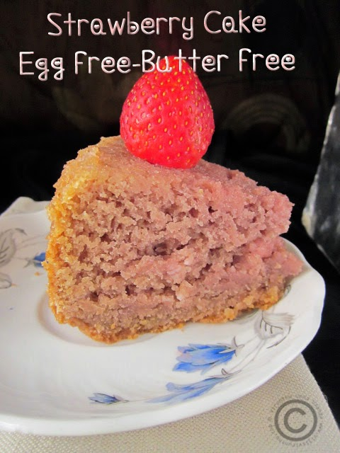 strawberry-cake-eggfree-butterless