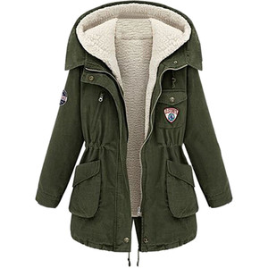 Withchic Olive Hooded Coat with Removable Waistcoast