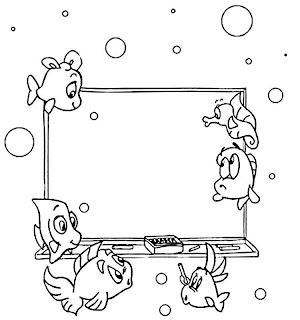 borda preto e branco peixinhos