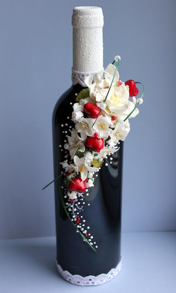 Украсить бутылку с вином своими руками 39