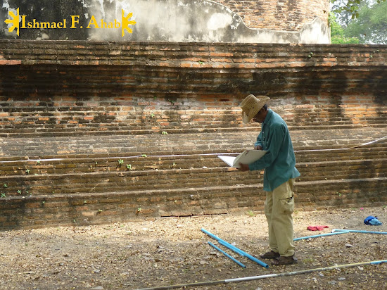 Restoration works in Wat Ratchaburana, Ayutthaya Historical Park, Thailand