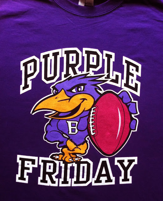 Purple Fridays tshirt Ravens design apparel Baltimore