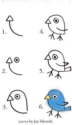 Como Desenhar Um Passarinho