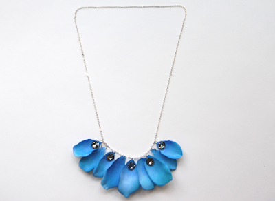 crafty jewelry: watercolor petal necklace tutorial