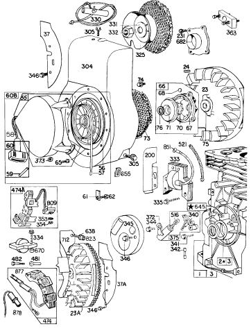 Teseh Small Engine Parts Diagram