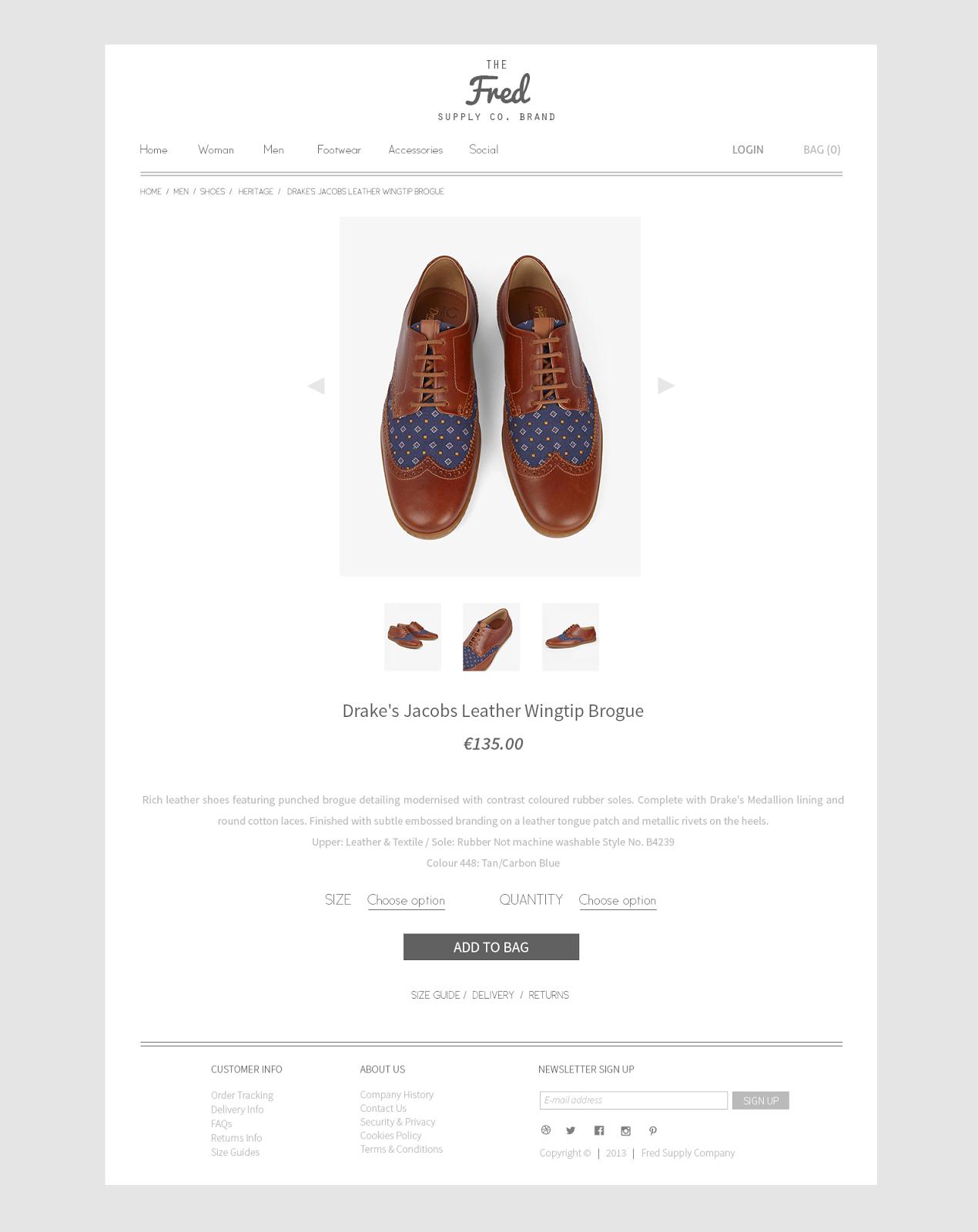 Online Store Web Design PSD Template