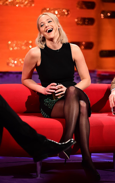 Actress, @ Jennifer Lawrence - The Graham Norton Show in London airing