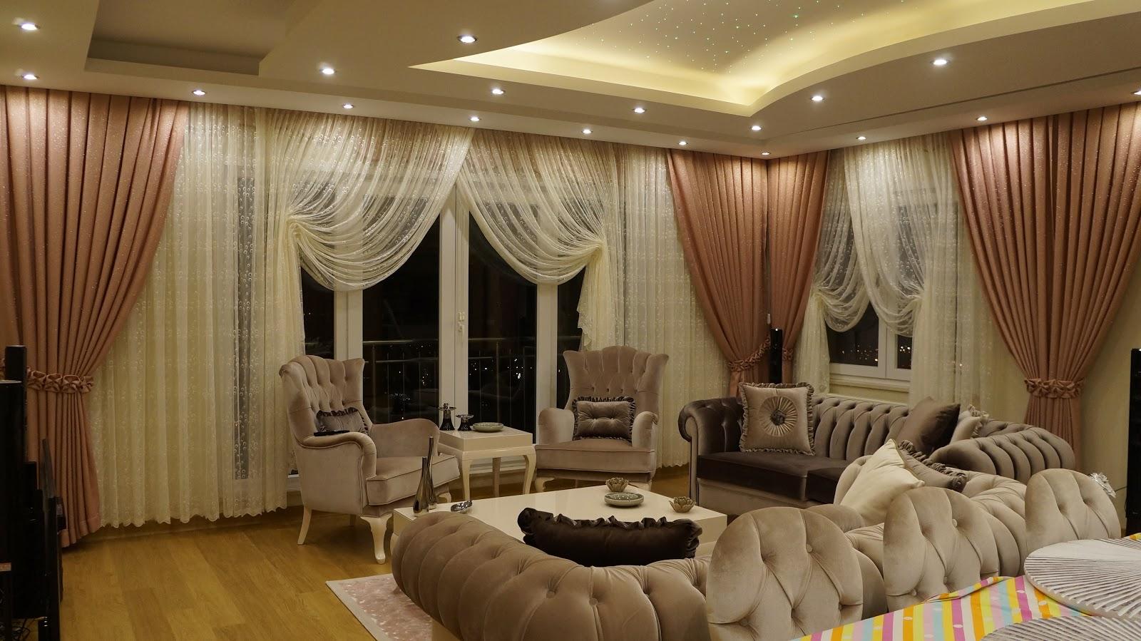 demir mefru at perde duvar ka d asma tavan led ve spot. Black Bedroom Furniture Sets. Home Design Ideas