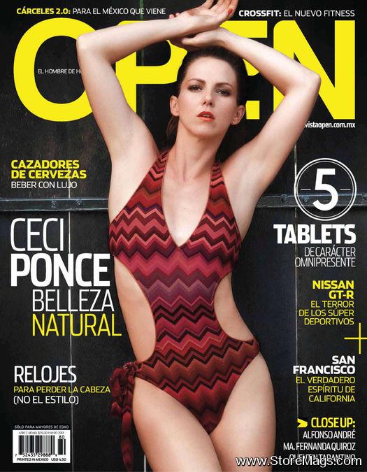 en la Revista OPEN del mes de enero 2013, edición Mexico, sus fotos
