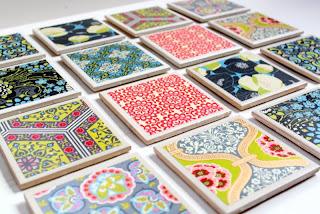 DIY Christmas Gift Coasters