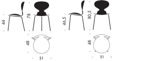 Ant la sedia con 3 gambe idea arredo for Divani design dwg
