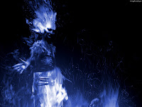 Blue Flame Girl | Dark Gothic Wallpapers