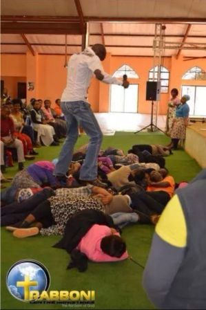 [Photo] Rather Than Trample On Serpents, This Pastor Was Trampling On His Congregation!