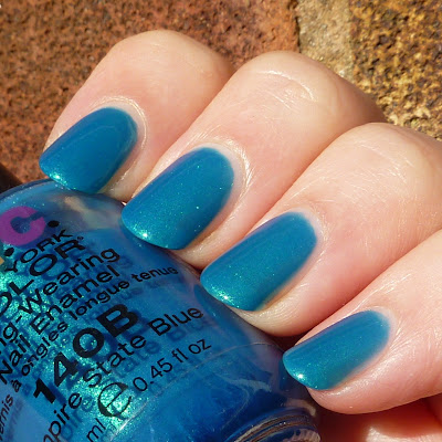 NYC - 140B Empire State Blue Nail Polish Swatch