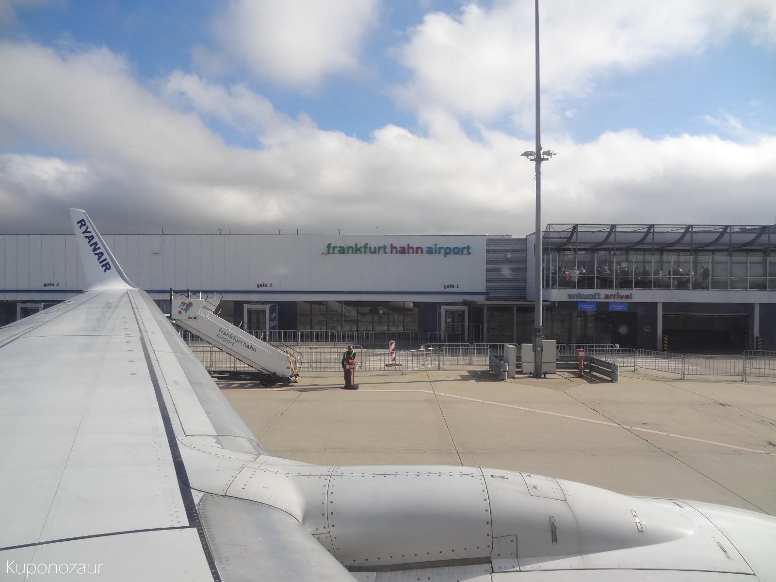Samolot Ryanair wylądował na lotnisku Frankfurt-Hahn