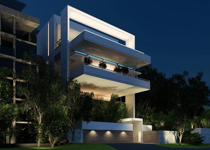 Casas minimalistas y modernas fachadas modernas de saota for Fachadas apartamentos modernos