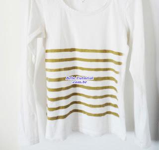 Camisa pintada com spay de aerossol
