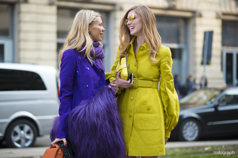 Zhanna Romashka and Chiara Ferragni Milan Fashion Week 2013 2014 Fall Winter