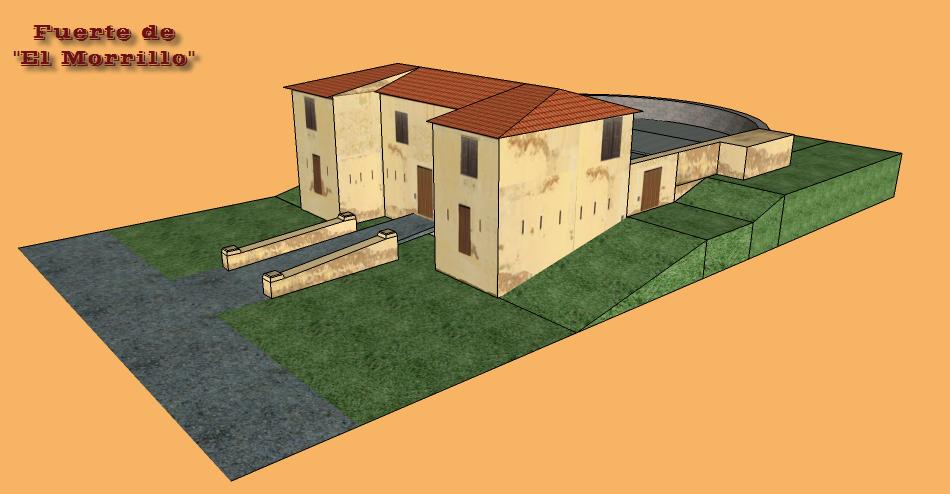 Fuerte de El Morrillo, diorama de papel