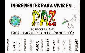 Ingredientes para la PAZ