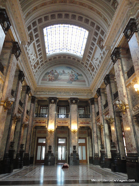 Interior do Palácio Legislativo - Montevidéu, Uruguai