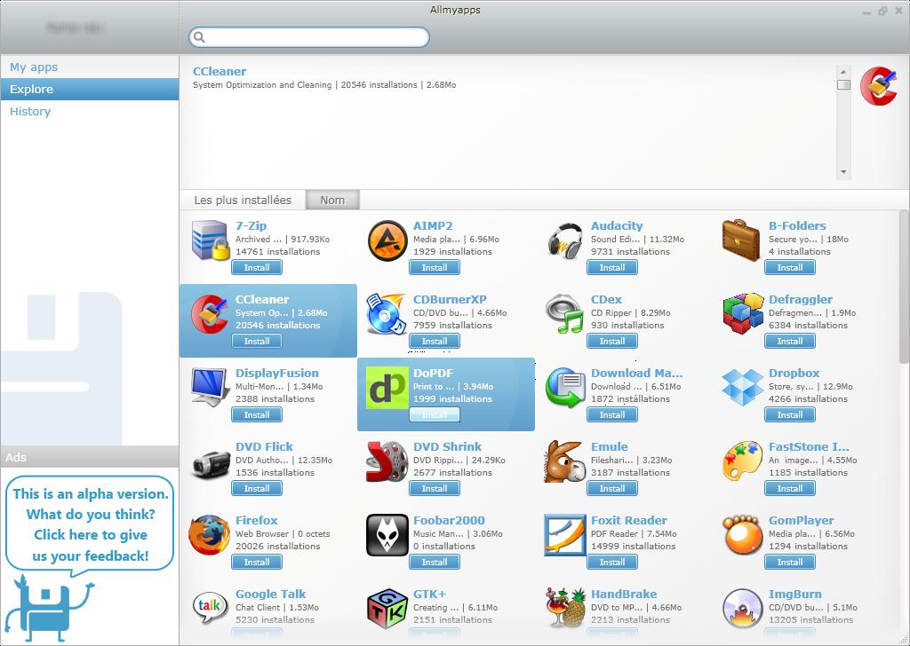 تحميل برنامج Allmyapps لتحديث جميع البرامج المثبتة على الحاسوب