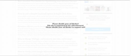 Chặn người dùng sử dụng AdBlock trên trang blogger