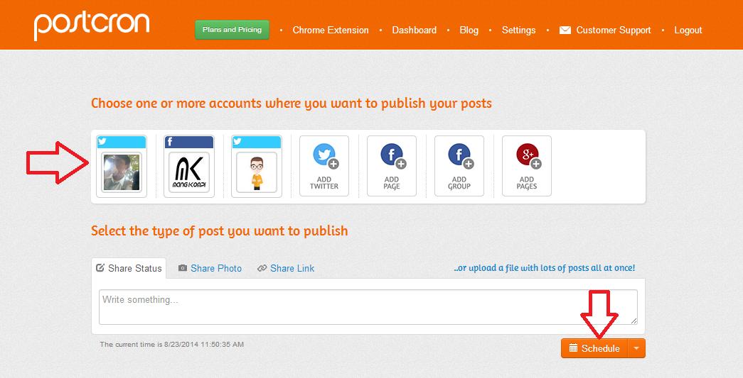 Cara Membuat Jadwal Status Otomatis Facebook, Twitter Dan Google+