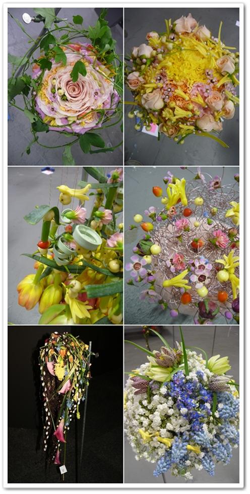 florist sm 2012 brudbuketter, svenskt mästerskap blomsterbinderi