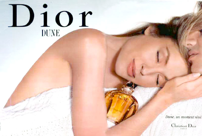 Kristina Semenovskaya Dune Dior perfume ad campaign by Nick Knight
