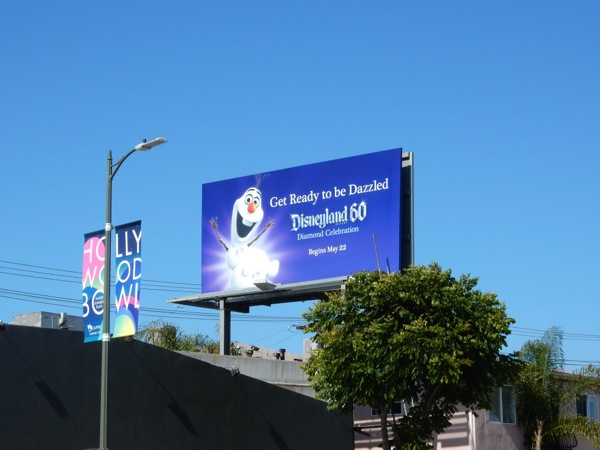 Olaf Snowman Disneyland 60 billboard