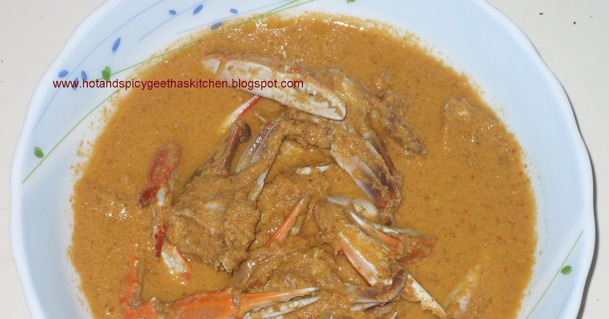 Hot and spicy Geetha's kitchen..: CRAB CURRY WITH GINGER (KURLA ALLE ...