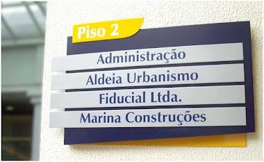 PLACAS DE SINALIZAÇÃO E IDÊNTIFICAÇÃO EM ACM ADESIVADA FIDUCIAL GUARULHOS-SP