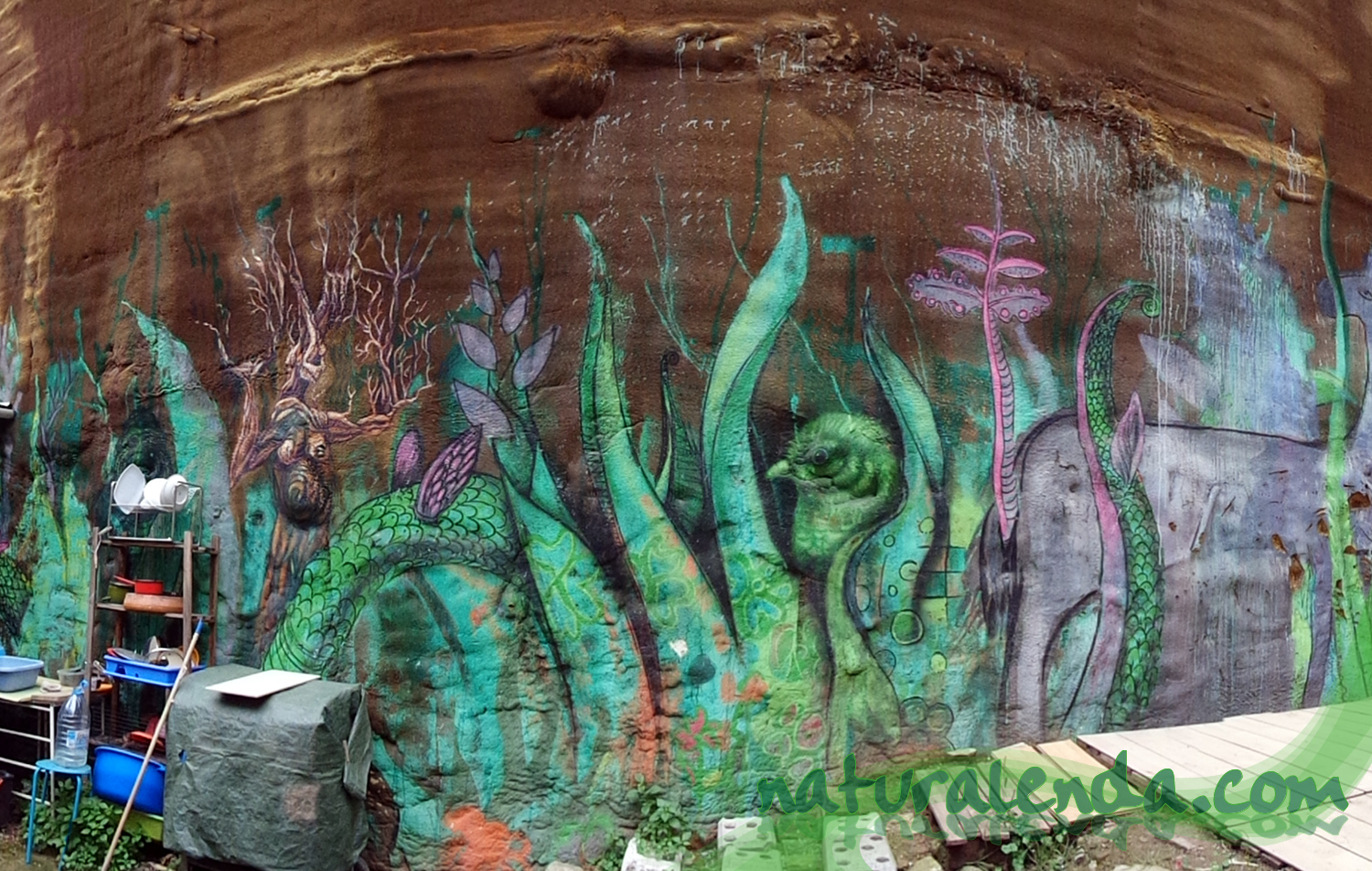 graffiti naturaleza