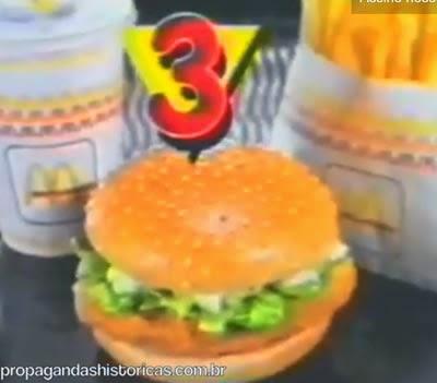 Propaganda dos McDonald's em 1994 que ensinava seus clientes a pedir pelo número.