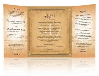 Kartu Undangan Perkawinan
