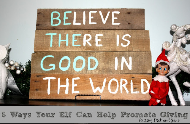 Ways to use your elf to promote giving and kindness