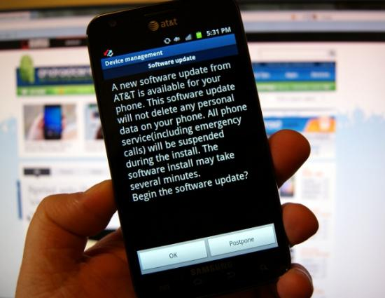 latest firmware for at&t galaxy s ii skyrocket