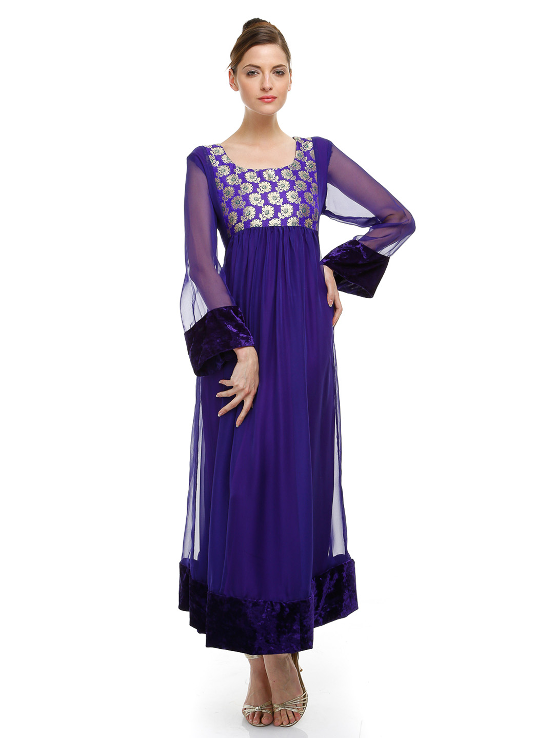 New Party Wear Dresses Long Frock Fashion 2013 2014 Asian Clothing