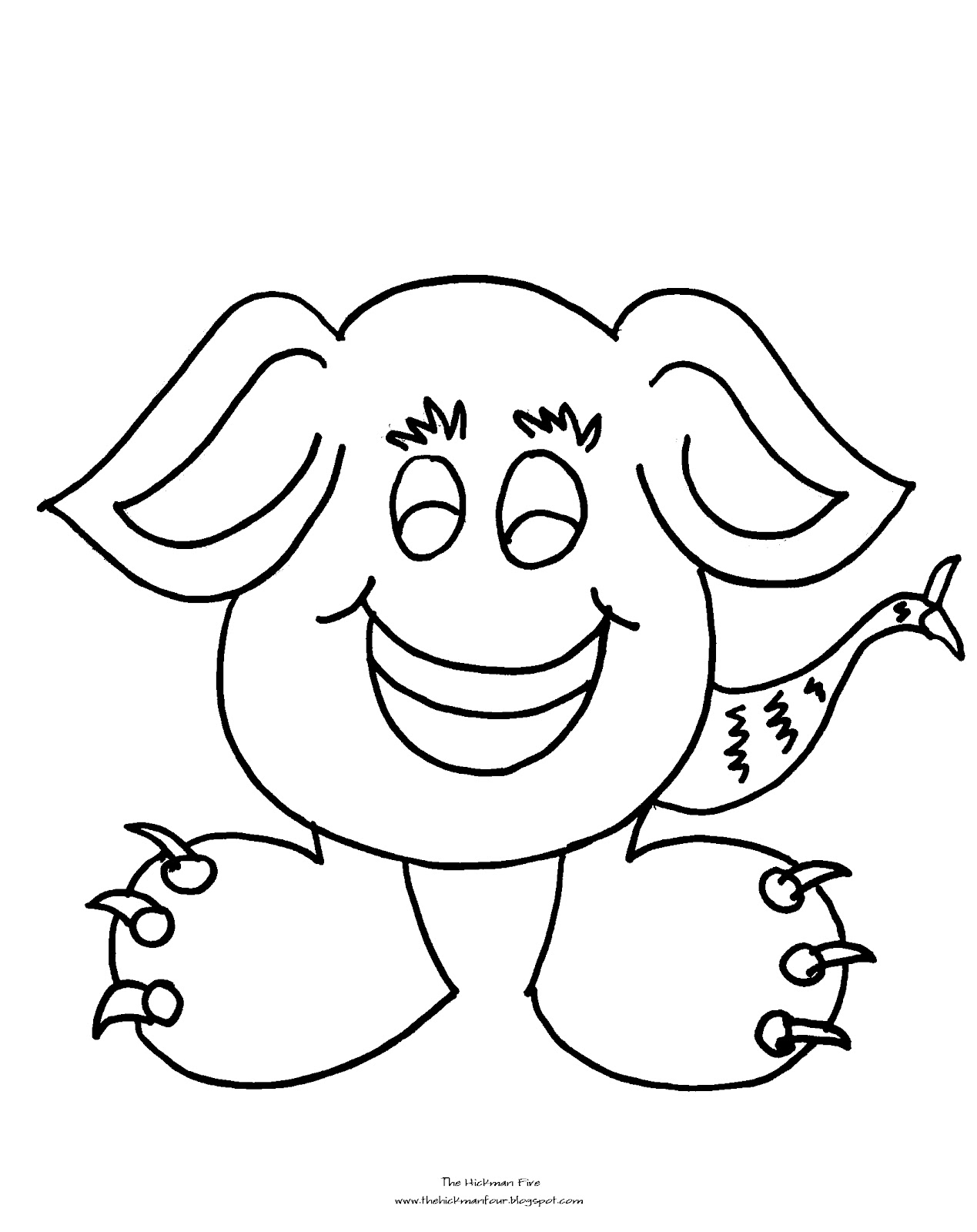 Cute monster coloring pages car interior design for Monster coloring pages