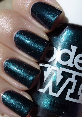 Emerald Black, Models Own, swatch