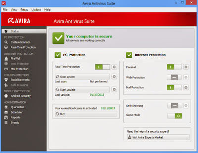 Avira Antivirus 2014 Serial Key